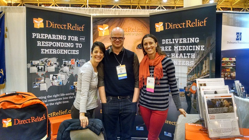(From left to right) Direct Relief's Paulina Ospina, Andrew Schroeder, and Jen Lemberger at the 2014 American Public Health Association Conference.