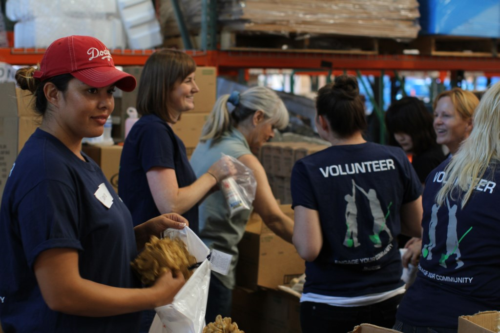 Volunteers Pack Supplies Direct Relief