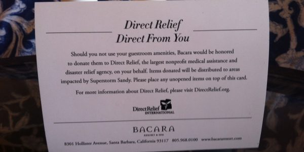 Bacara Resort & Spa Finds Unique Way to Help People in Need