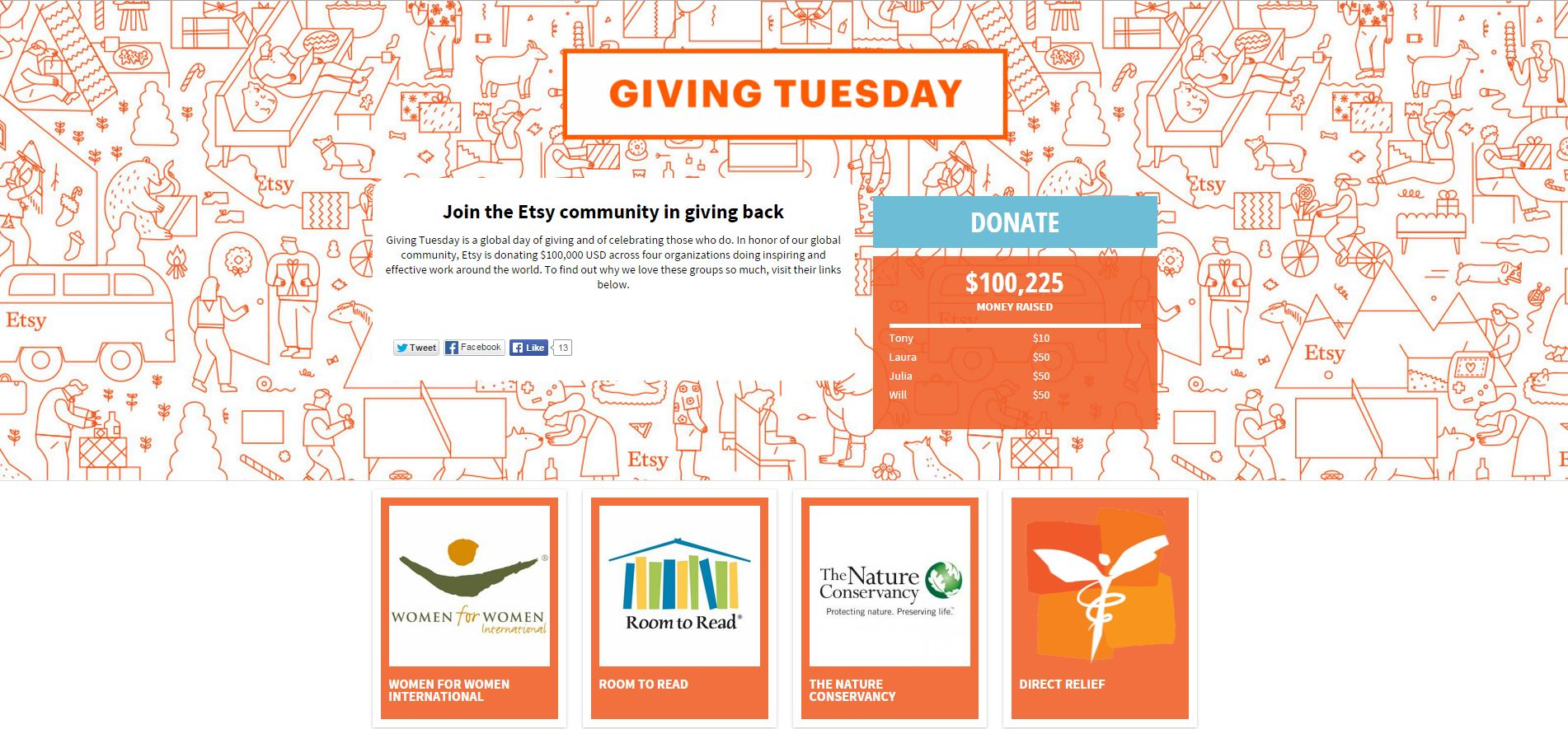 Giving Tuesday Etsy Direct Relief