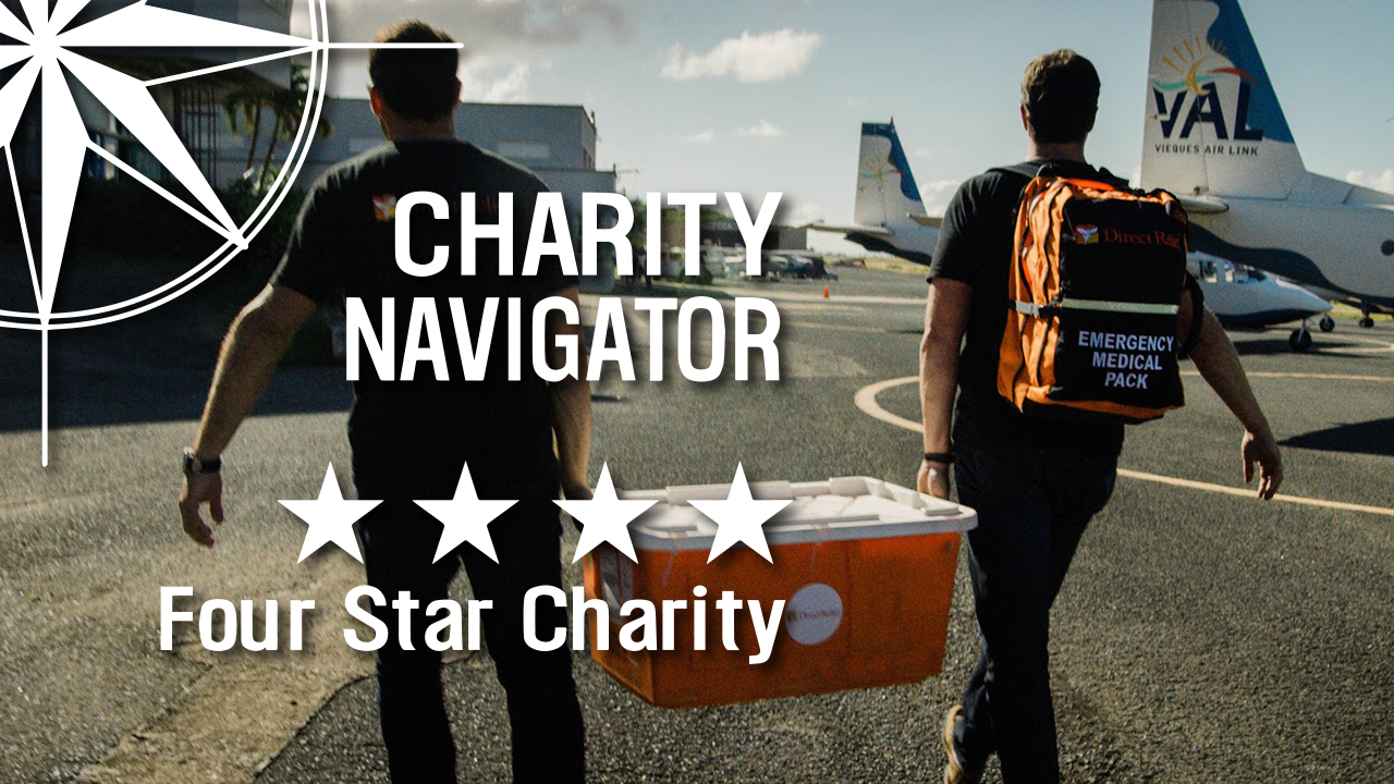 Charity Navigator 4 Star Charity Rating - Direct Relief