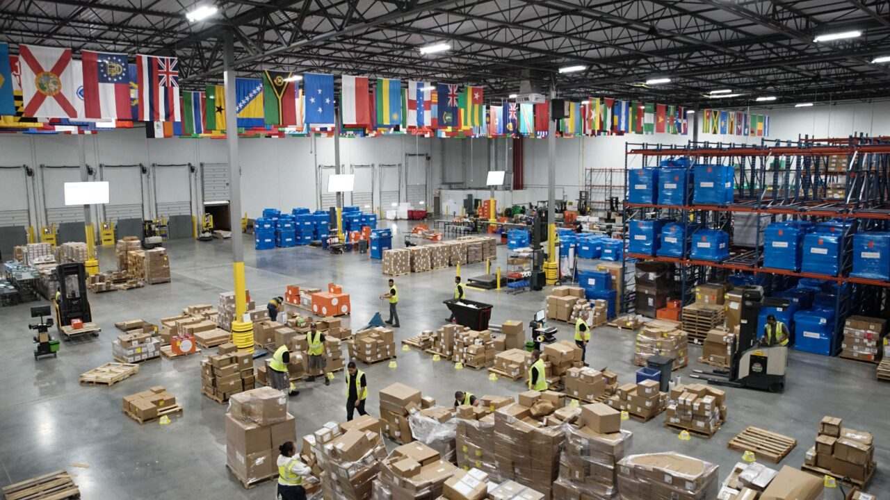 Direct Relief's 155,000-square-foot warehouse. (Lara Cooper/Direct Relief)