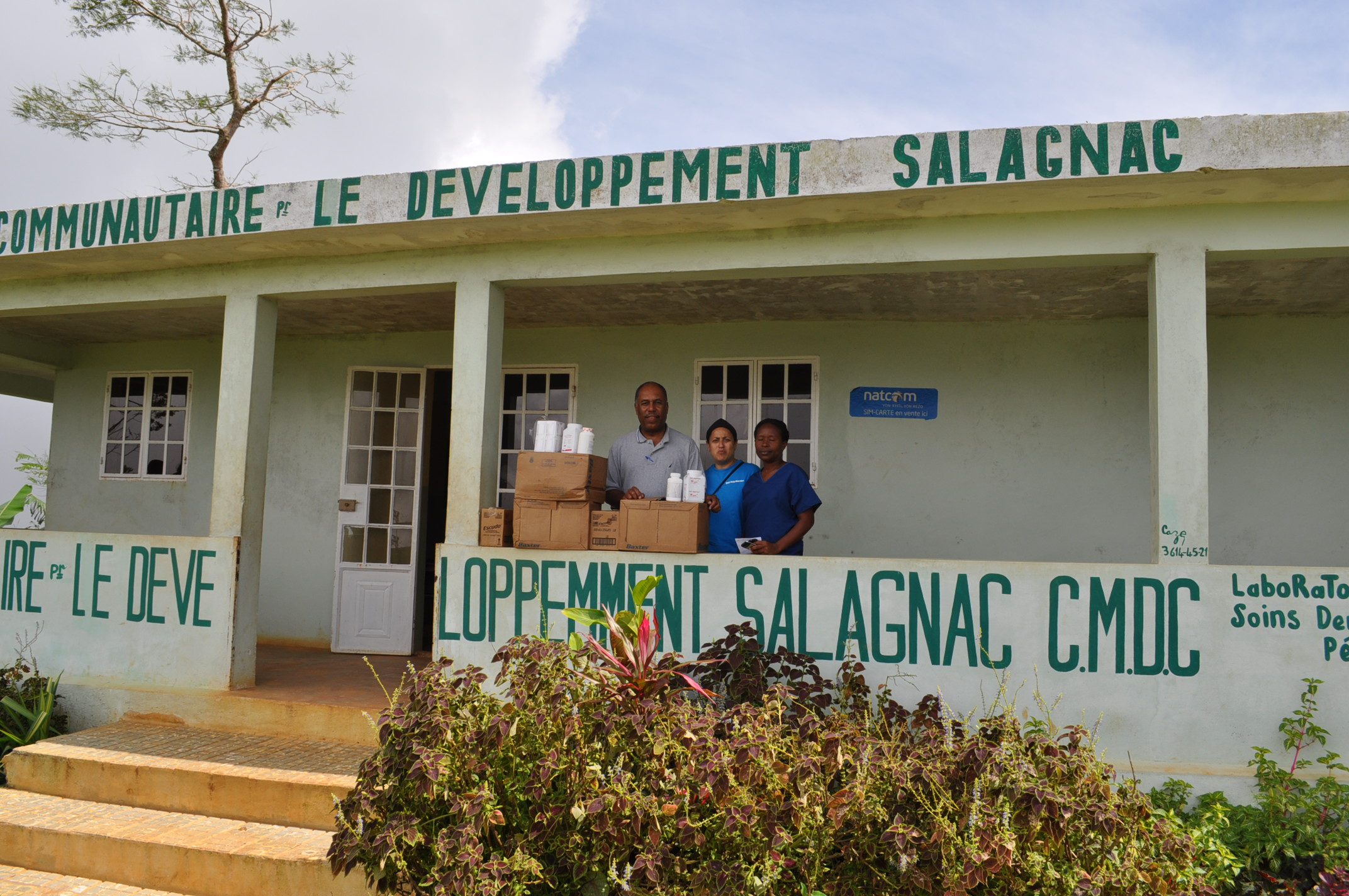 Delivery to the health center in Mussotte, one of six receiving a shipment of medicines and supplies..