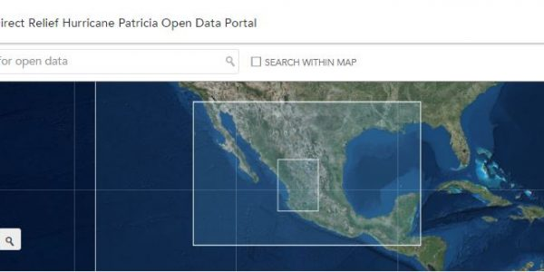 Open Data for Hurricane Patricia Response
