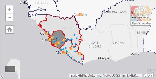 Ebola Crisis Mapping - Direct Relief