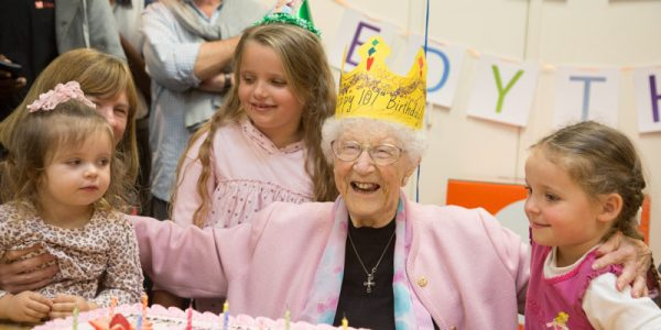 Inspiring: Volunteer Edythe Turns 107!