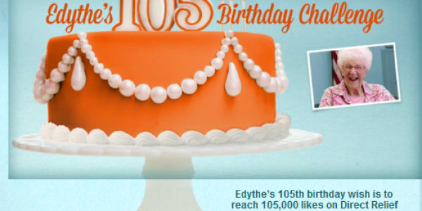Light a Candle for Edythe on Her 105th!