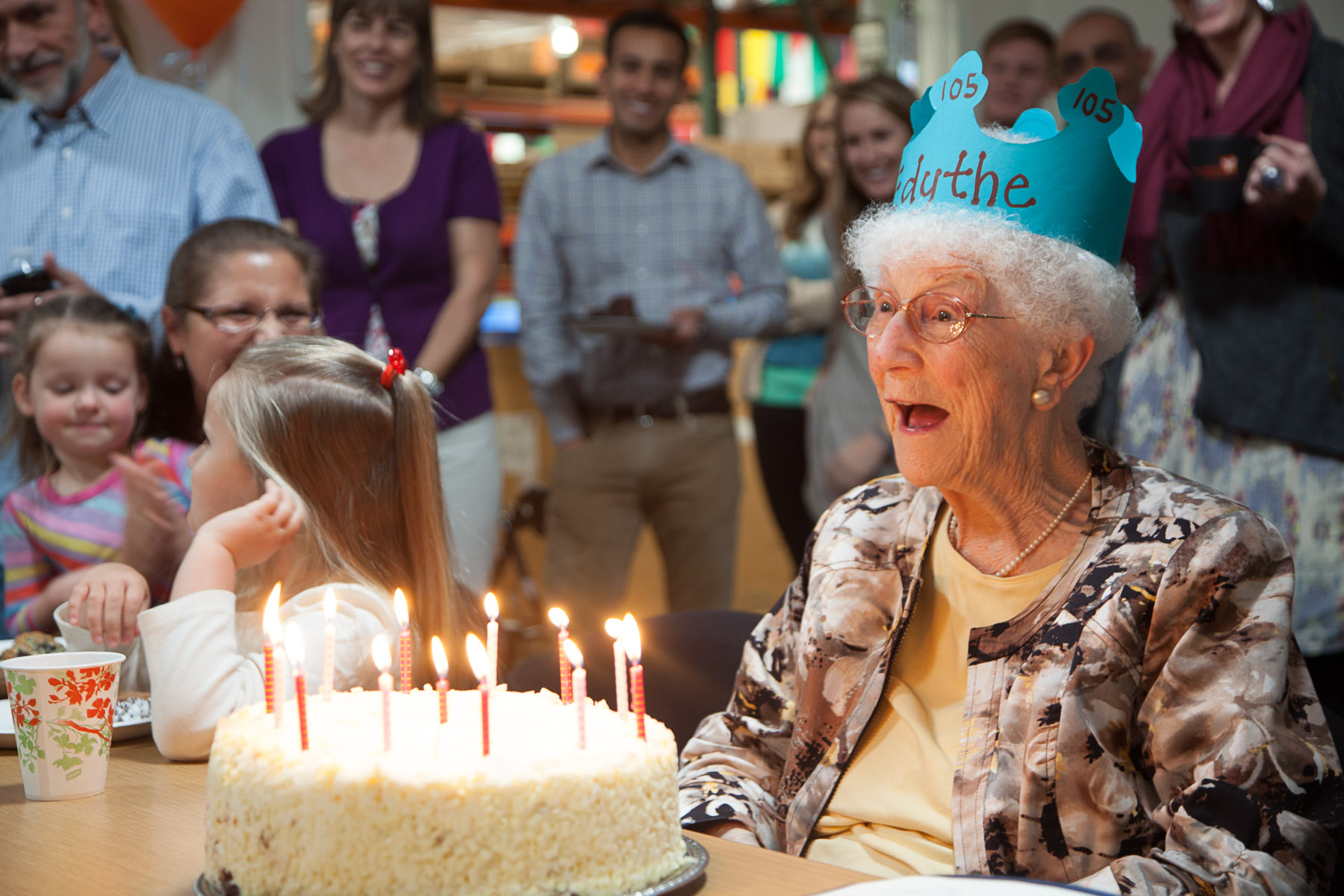 Edythe Kirchmaier's 105th Birthday Celebration. Direct Relief International. Goleta, California. January 22, 2013. Photo: ©IsaacHernandez.com