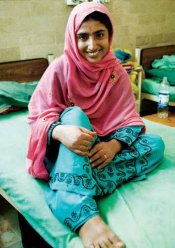 Fistula Patient and Advocate. Photo courtesy of Koohi Goth Hospital.
