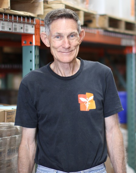 Al Sladek has volunteered at Direct Relief for 13 years.