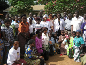 A group photo with the patients after fistula repair surgery. Photo courtesy of EngenderHealth.
