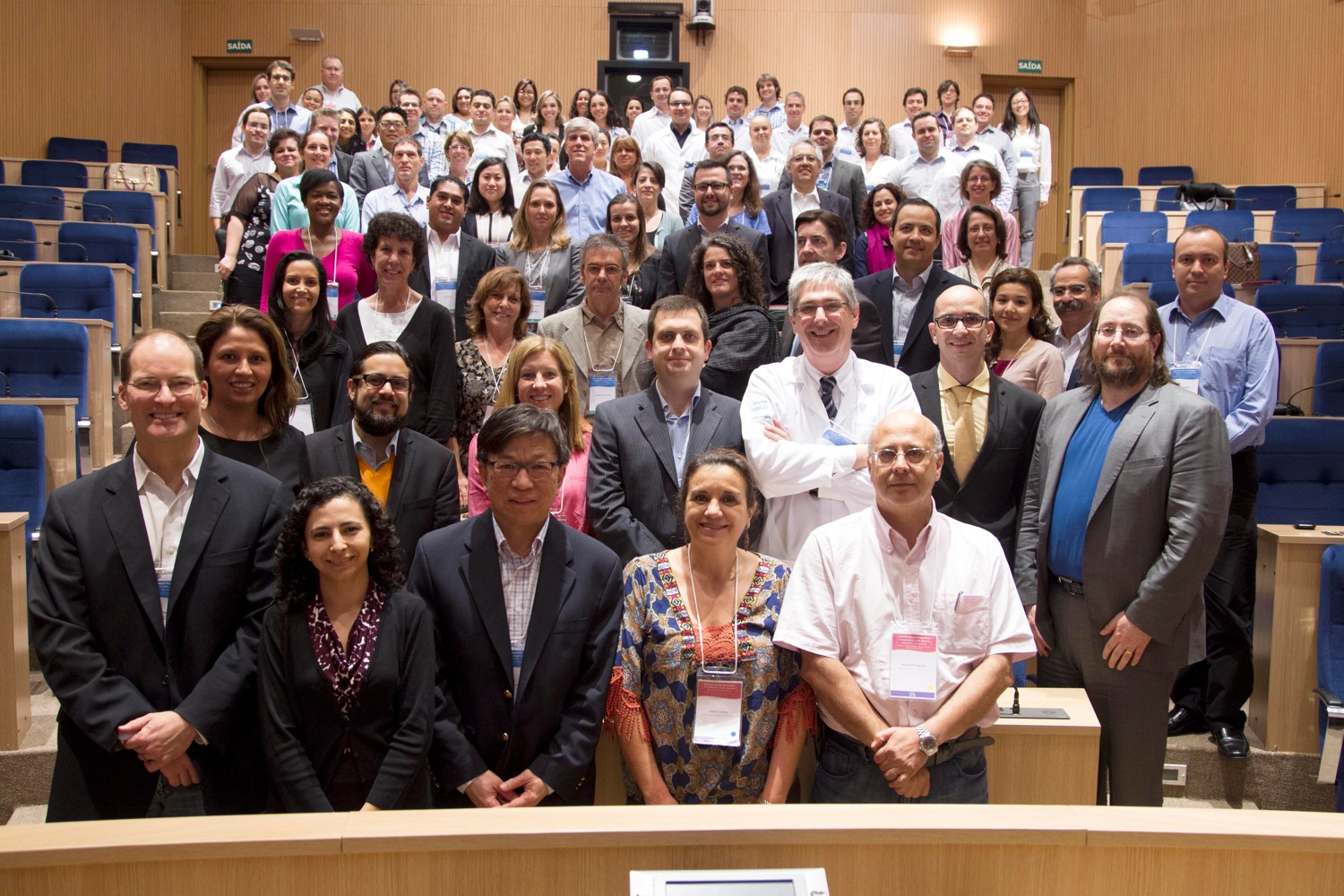 Symposium attendees worked together to improve cervical cancer prevention and treatment in Latin America.