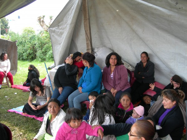 Those affected by the quake seek shelter and care from our partner, Caritas de Guatemala. Photo courtesy of Caritas de Guatemala