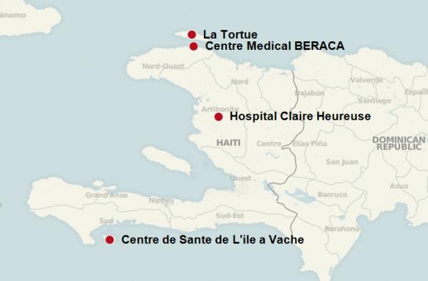 Haiti EMOC Round One Map Graphic