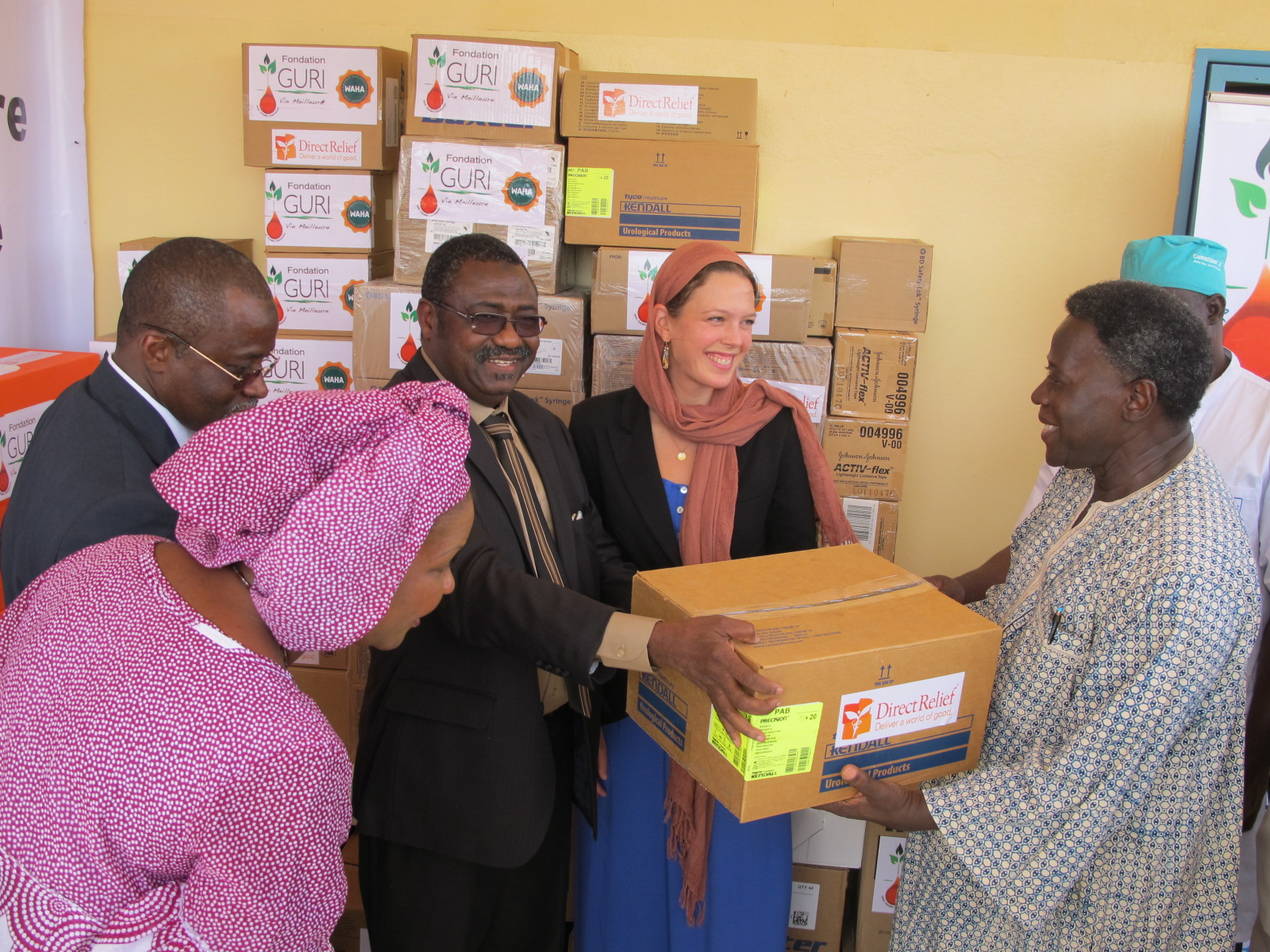 Handover of Supplies to Dr Sanda Ganda