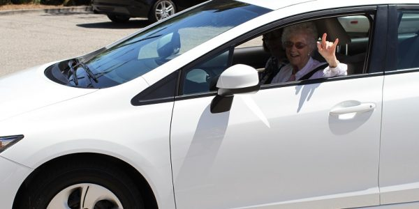 105-Year-Old Volunteer Edythe Kirchmaier Surprised With New Car from Anonymous Fan