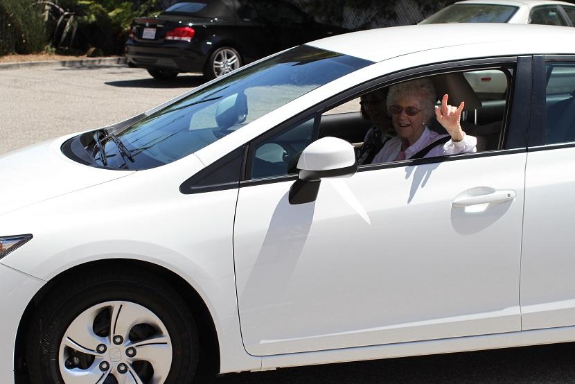 Edythe in New Car