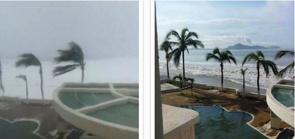 Hurricane Patricia Before and After Image