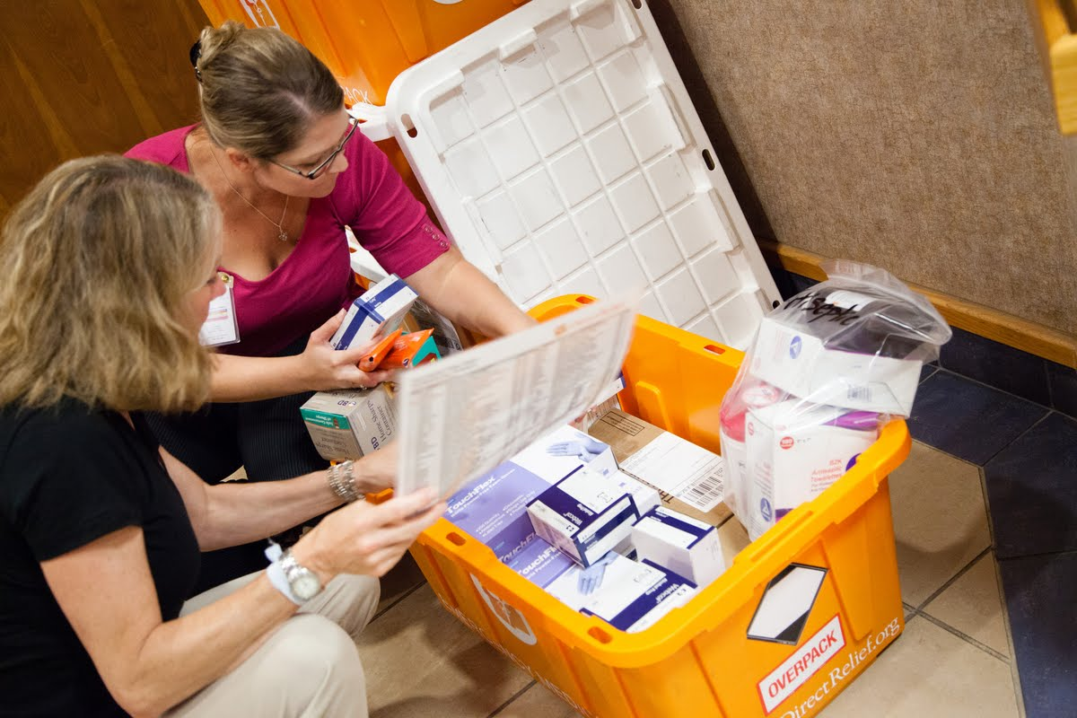 Direct Relief's hurricane prep packs arrive at a health center