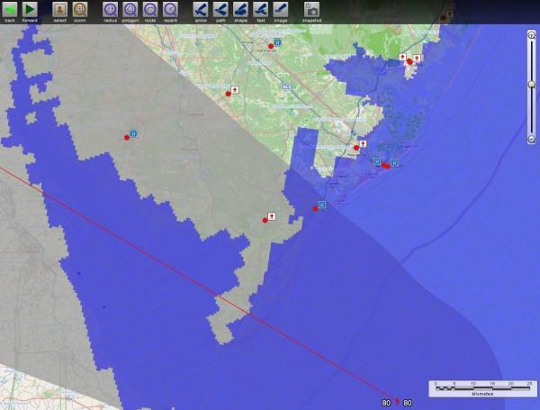 Hurricane Sandy Atlantic City map