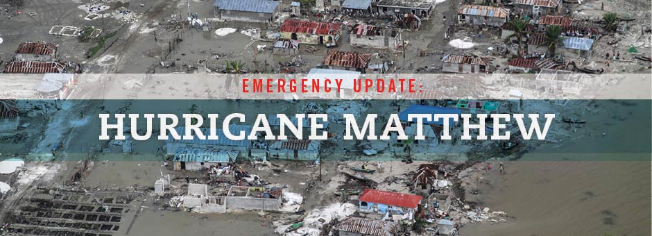 Emergency Update: Hurricane Matthew