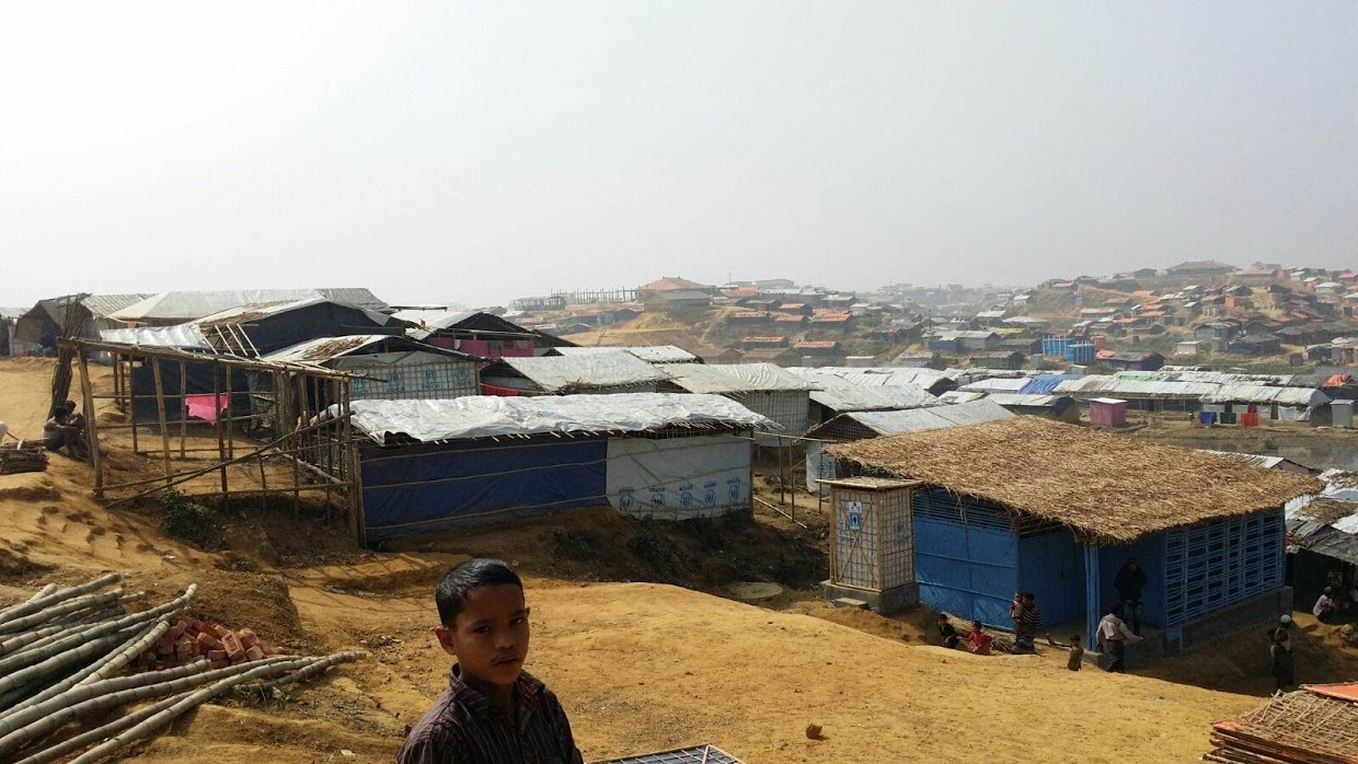 More than 800,000 refugees from Myanmar are now living in camps near Cox's Bazar, Bangladesh. Direct Relief is supporting HOPE Hospital with supplies and equipment needed to establish field hospitals throughout the camp. (Photo by Dr. Neena Jain for Direct Relief)