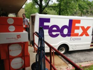 FedEx Delivers Tornado Relief to Community Health Centers Inc in Spencer, OK