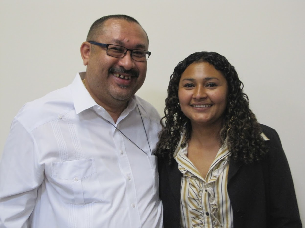 Rev. Pascual Torres and Yolany Montufar Osorio at Direct Relief headquarters