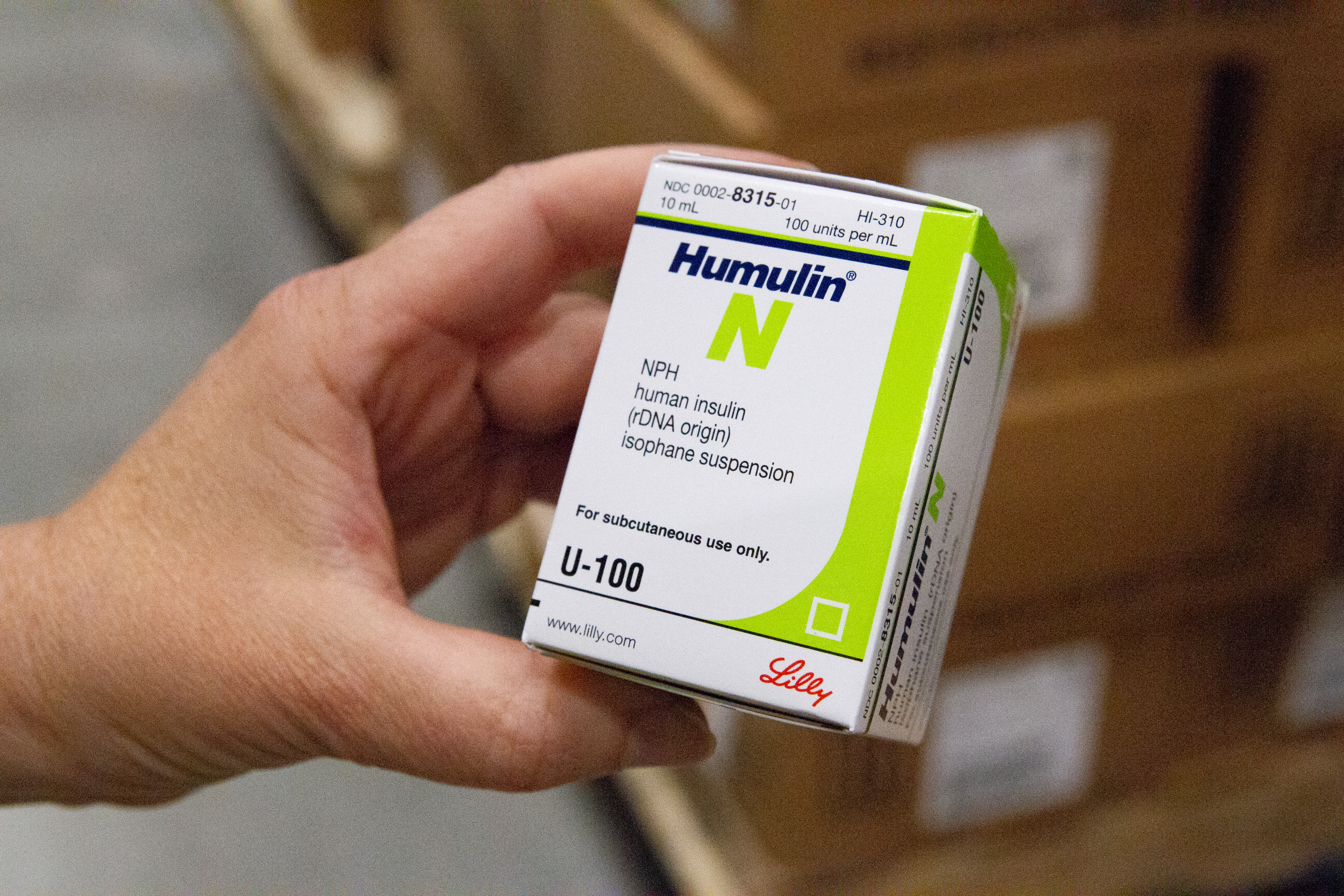 Insulin, donated by Eli Lilly, pictured inside Direct Relief's temperature controlled cold room. A recent donation from Eli Lilly will allow Direct Relief to ship a regular supply of insulin to nearly 30 clinics across the United States.  (Lara Cooper/Direct Relief)