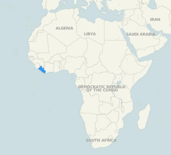 Location of Liberia