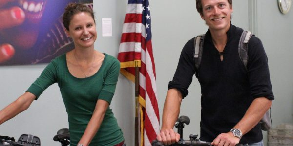 U.K. Couple Cycles Across the U.S. for Medical Relief