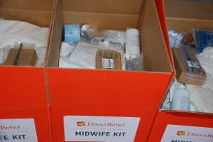Midwife kit opened paint