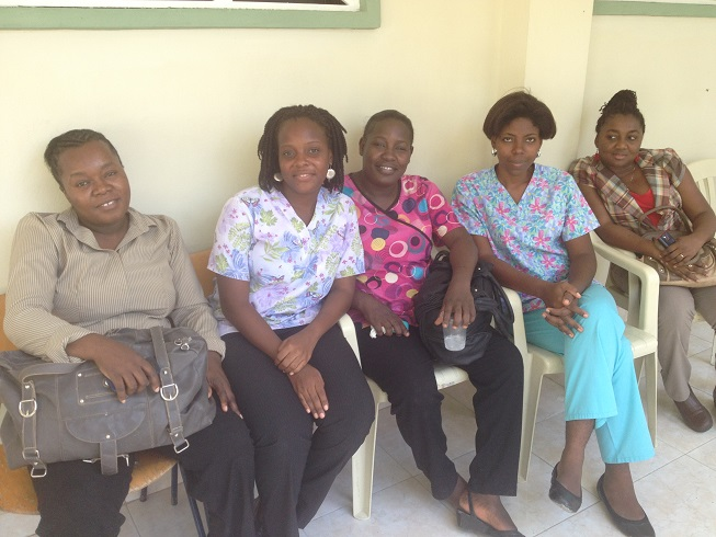 Midwives - training delegation 2 paint