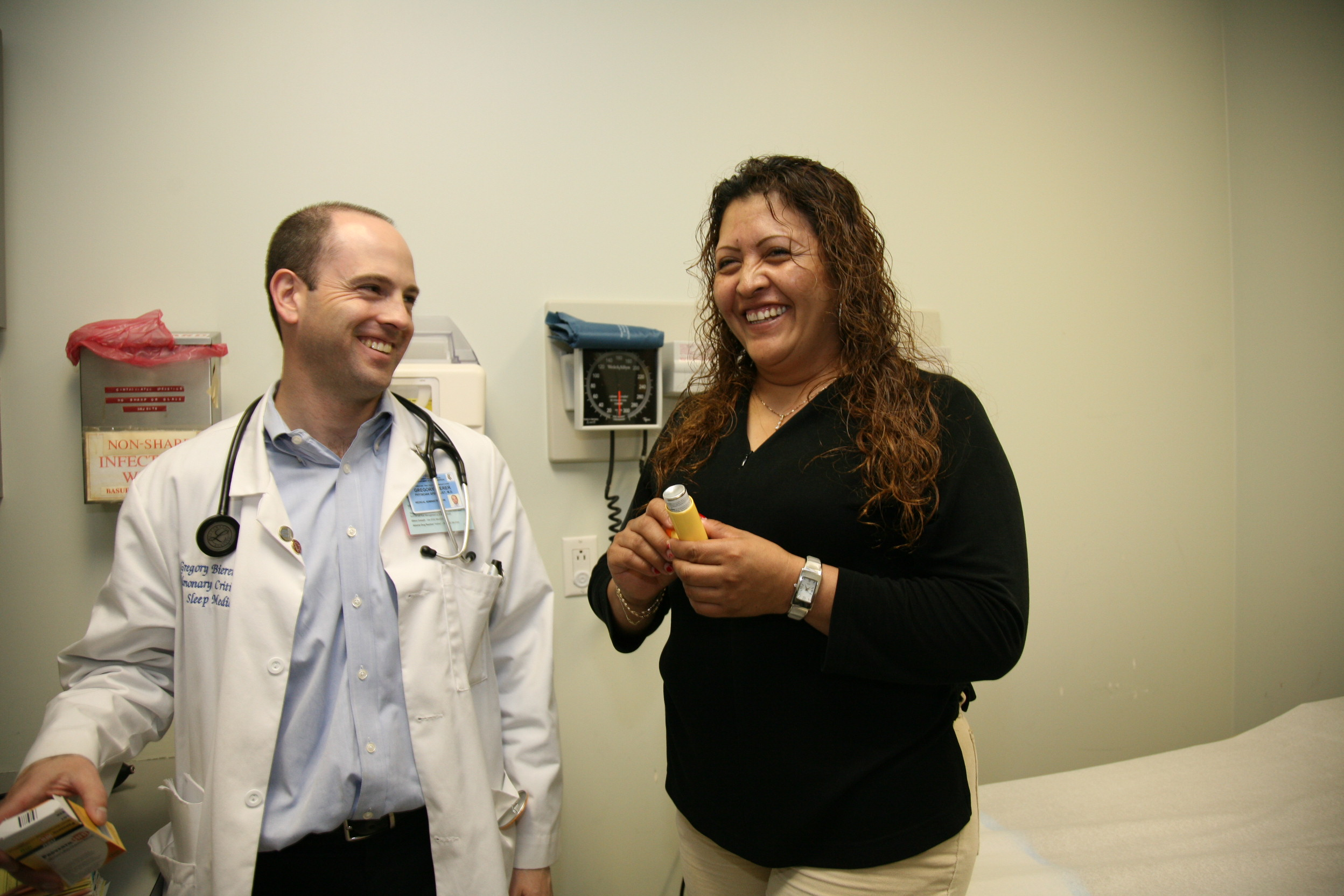 Doctor and Patient at Oscar Romero Health Center