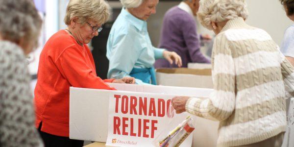 Senior Volunteers Help Tornado Relief Efforts