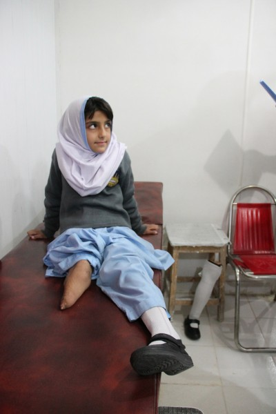 Ain-Ul-Haya is treated at the CHAL Rehabilitation Center in Balakot, Pakistan.