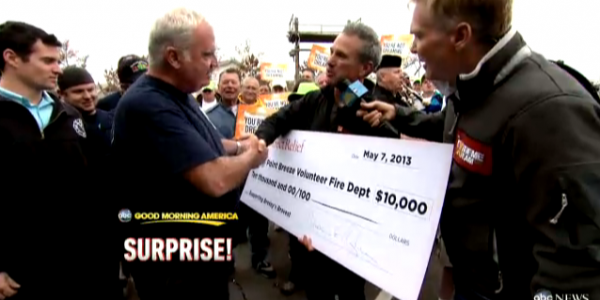 Breezy Point Volunteer Firefighters Receive Emergency Packs, $10,000 to Rebuild After Sandy