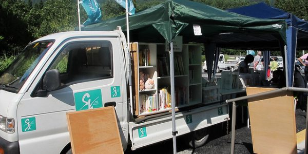 Grant Supports Mobile Library for Tsunami Survivors