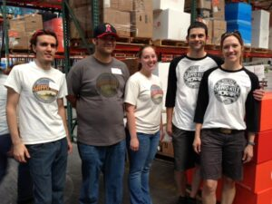 A dedicated crew from Sappo Hill Soapworks drove 10 hours to be a part of the packing event.