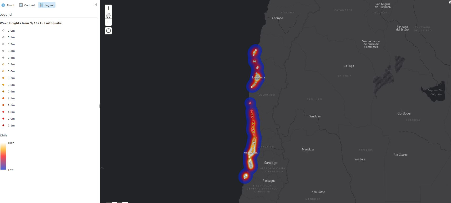 Tsunami Warning Map