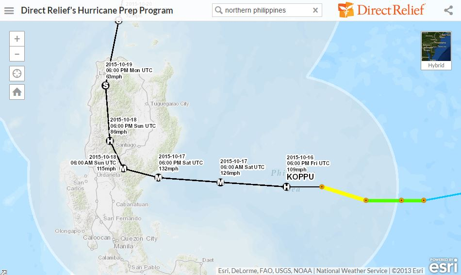 Typhoon Lando Map - Philippines