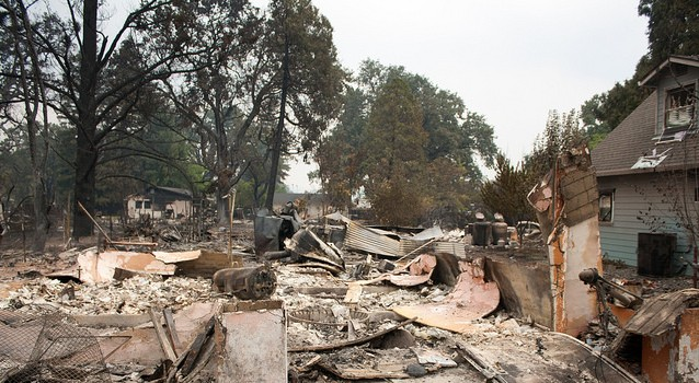 Valley Fire Damage - Photo by Matthew Keys - Flickr