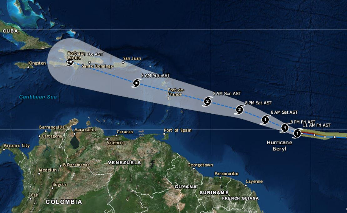 Hurricane Beryl is tracking westward, and Direct Relief is reaching out to partner facilities in the region.