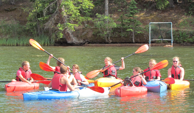 Campers enjoy a variety of activities, including canoeing. Photo by Emily Fay.