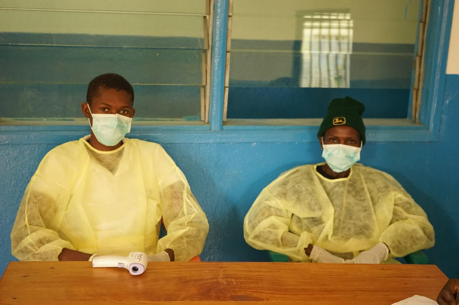 Medical staff often must decide between treating a sick patient and taking the risk of contracting Ebola.