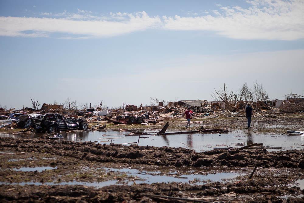 Moore, Oklahoma. Tornado Devastation. 2013