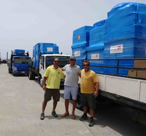 Truckloads of medicine from Direct Relief arrived in Roatan on Tuesday.