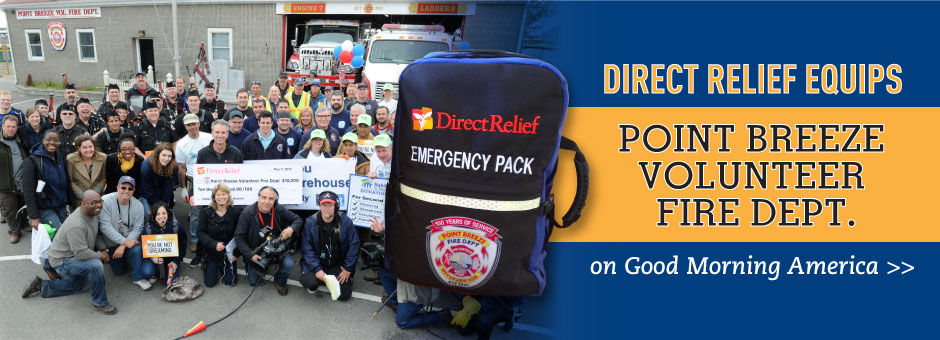 Direct Relief equips the Point Breeze Volunteer Fire Department on Good Morning America