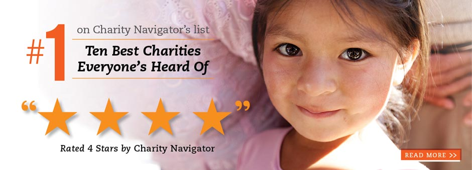 Direct Relief Ranks #1 on Charity Navigator's Ten Best Charities Everyone's Heard Of List