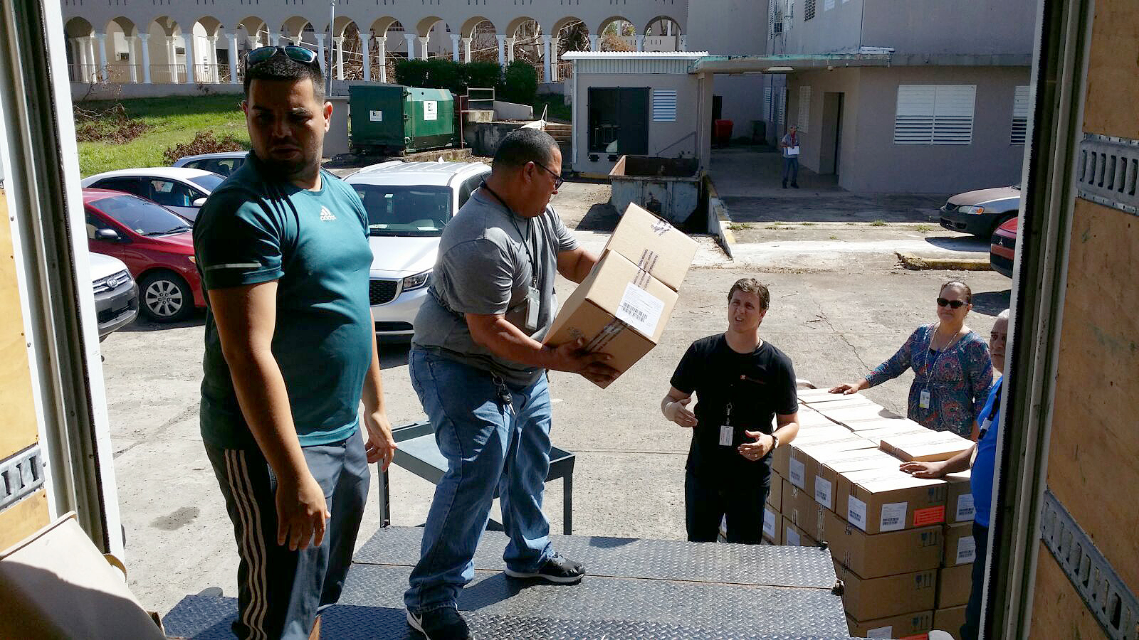 Insulin was delivered to secure storage locations around San Juan, including the Pueto Rico Department of Health on Wednesday. From there, the medicines will be distributed to health clinics and hospitals across the island treating patients with diabetes. (Gordon Willcock/Direct Relief)